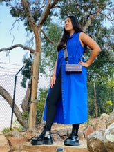 Load image into Gallery viewer, Empowerment sleeveless long shirtdress