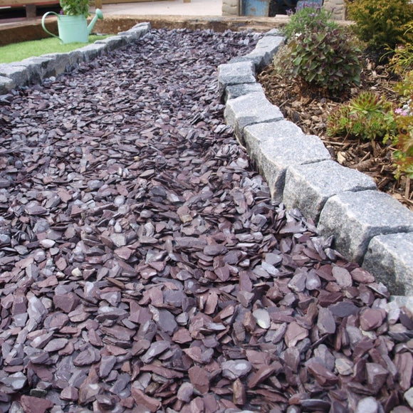 Decorative Plum Slate 40mm Bulk Bag