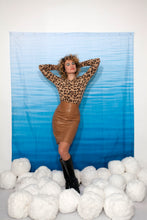 Load image into Gallery viewer, Krizia 80's sheepskin leather camel skirt