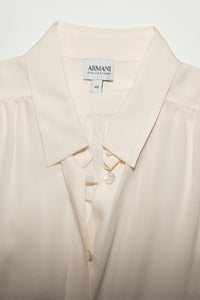 Vintage Armani Y2K Sleeveless White Top