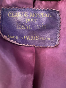 Claude Montana 80's suede purple and black short jacket