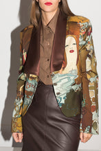 Load image into Gallery viewer, Basso & Brooke Y2K Printed Blazer in Brown