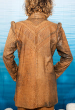 Load image into Gallery viewer, Roberto Cavalli 1970's leather embossed pantsuit