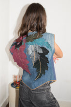 Load image into Gallery viewer, Roberto Cavalli 70's Patchwork Gillet In Navy Denim
