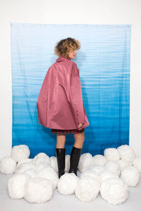 Complice 80's pink nylon cape coat