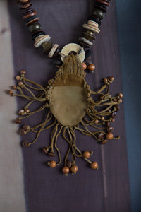 Fantasy Wooden-Shell Necklace