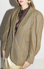 Load image into Gallery viewer, Versace 1980s Wool Jacket in Plaid Print