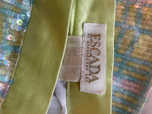 Load image into Gallery viewer, Escada 90s sequin and silk pastel miniskirt