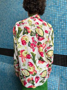 Naf Naf 80's cotton shirt with vegetable print