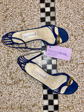 Load image into Gallery viewer, Gianni Versace 80s blue and gold sandals