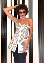 Load image into Gallery viewer, Angelo Tarlazzi  90s cream bustier with graphic pattern