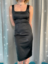 Load image into Gallery viewer, Y2K Dolce & Gabbana silk black bodycon cocktail dress