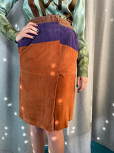 Load image into Gallery viewer, Gianfranco Ferre 80's suede pencil skirt with front slit