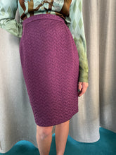 Load image into Gallery viewer, Christian Lacroix 90's purple quilted pencil skirt