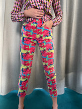 Load image into Gallery viewer, 80's Gianfrance Ferre multicolor flowerprint cotton pants