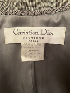Christian Dior mid-90's wool and lace skirt suit and lace top