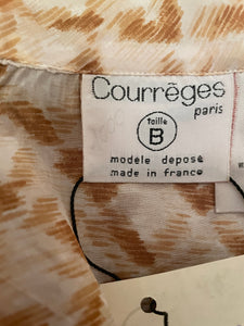 Courrèges 70's ultra thin silk shirt in brown