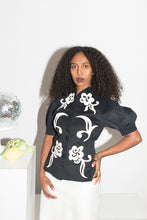 Load image into Gallery viewer, Irie Wash Y2K felt-like sculptural blouse with floral details