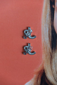 Jean Paul Gaultier Y2K Initials Earrings In Silver
