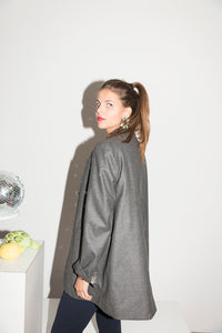Lawrence Steele 90's Oversized Gray Coat