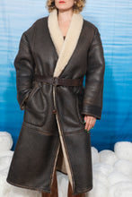Load image into Gallery viewer, 80's pilote sheepskin coat