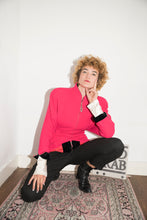 Load image into Gallery viewer, Mugler 1980's Fucshia Blazer With Shoulder Pads