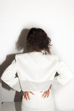 Load image into Gallery viewer, Ozbek 1980's white bolero jacket