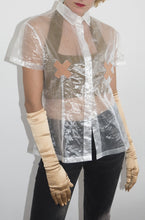 Load image into Gallery viewer, Ozbek 1980's transparent band-aid shirt
