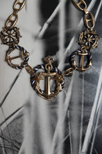 Load image into Gallery viewer, Vintage Gold Sailor Necklace
