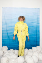 Load image into Gallery viewer, 80's Fluorescent yellow skisuit