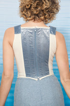 Load image into Gallery viewer, Vivienne Westwood 90's velvet baby blue corset