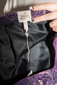 Vivienne Westwood early 2000's purple draped skirt