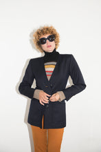 Load image into Gallery viewer, Yves Saint Laurent 80's blue wool jacket