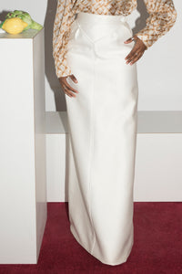 Courrèges 1960s Maxi Skirt in White