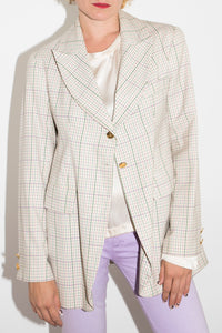 Vivienne Westwood Early 90's Plaid Wool Blazer