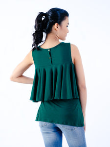 Amelia midnight green back