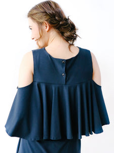 Amelia navy blue back