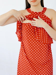 Cerah red polka access detail