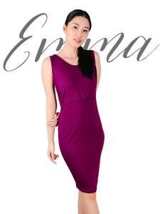 Emma dress wine cover
