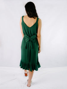 Evita midnight green back