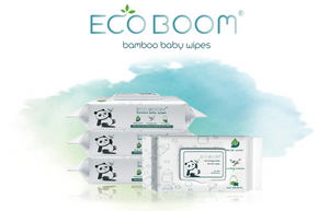 Eco Boom 100% Biodegradable Bamboo Baby Wipes