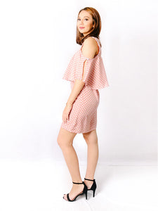 Lia blush polka side