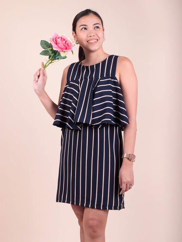 Lia navy stripes front 2