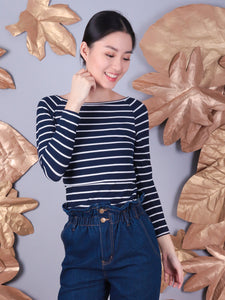 Midge navy stripes front