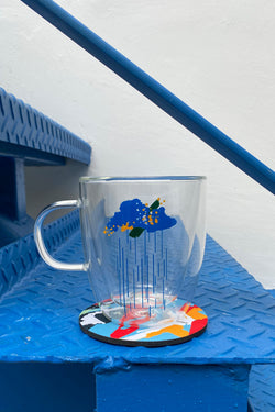 CGH001 || DOUBLE WALL CUP + COASTER SET