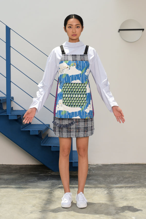 S15 AP02A || CLOUD PRINT MINI APRON