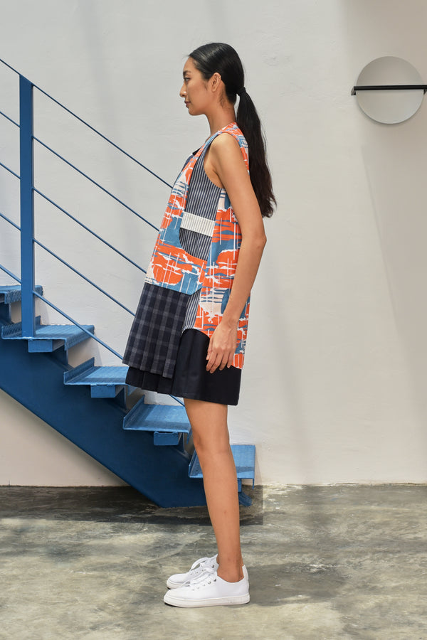 S15 DD07 || SUNRISE DRESS WITH PLEATED HEM