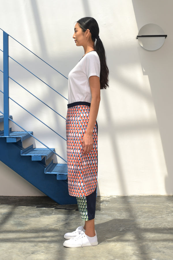 S15 LP05 || MIDDAY TROUSERS WITH SKIRT FLAP