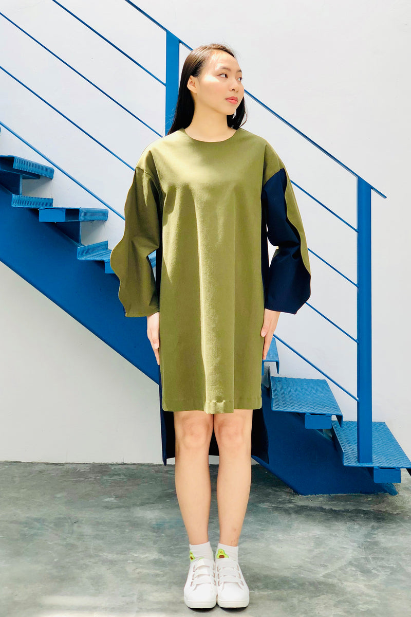 S16 DD07A || KARATE DRESS IN OLIVE