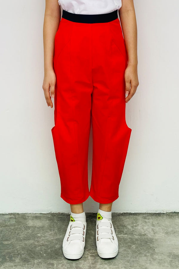 S16 LP01C || EQUESTRIAN TROUSERS IN TOMATO ORANGE